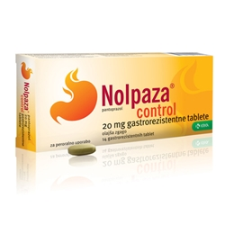 Nolpaza control 20mg, 14 tablet